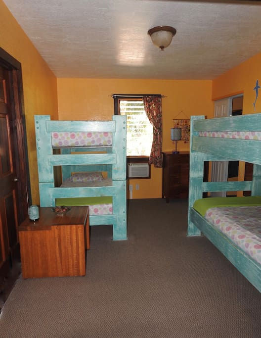 One of our bunk beds in one of our Bird of Paradise dorms.