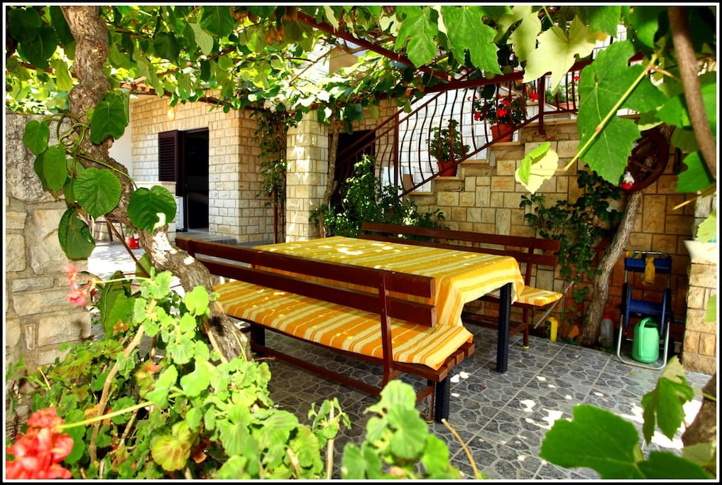 Sitting and relaxing area on the beautiful terrace