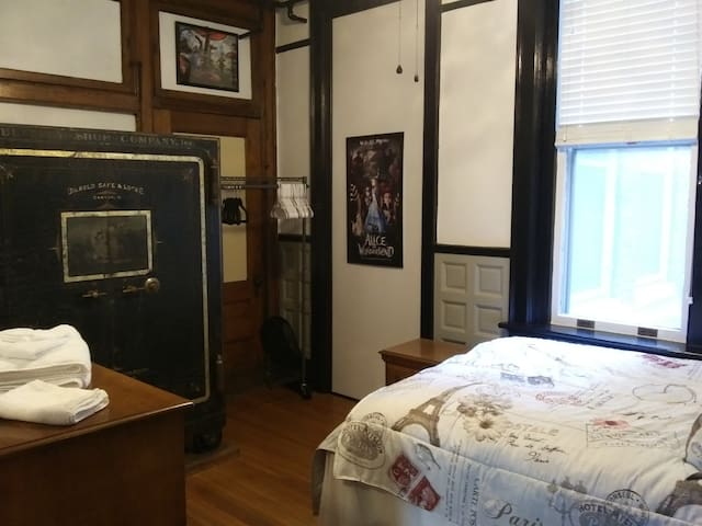 Bedroom with Historic Safe