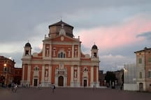 Carpi's cathedral, only 1 minute walking distance.