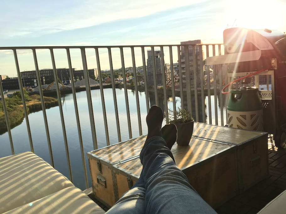 Me hanging out on the balcony :-)