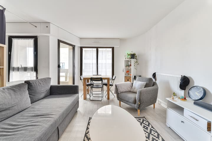 Bright apartment on the banks of the Seine