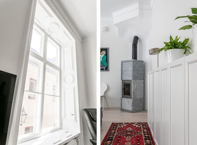 High Ceiling, Open Space Flat in Gamla Stan
