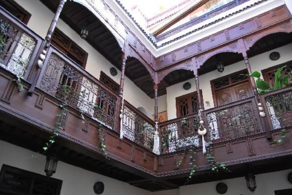les chambres du 1er étage