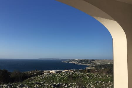 Sunny house with stunning view on theSalentoCoast! - Santa Cesarea Terme - Lejlighed