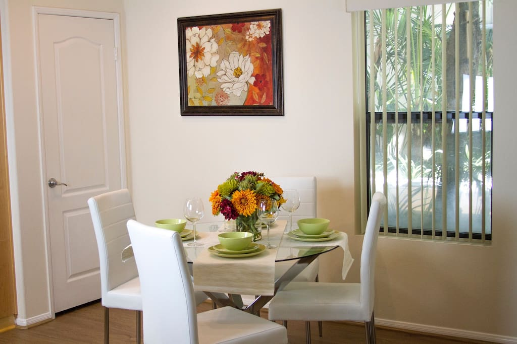 Elegant dinner area will make your dinners special