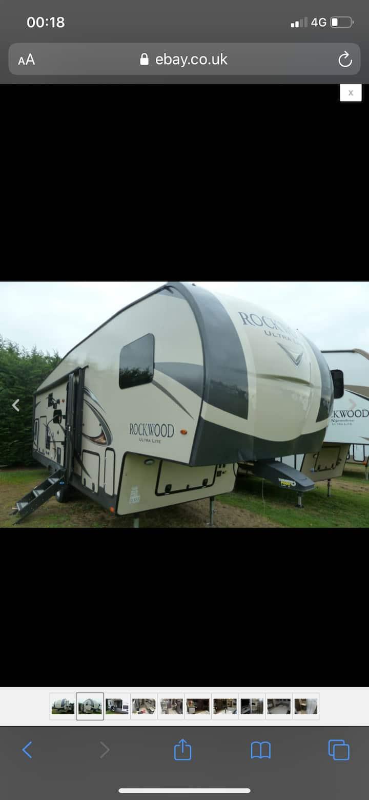 Orchard Oasis (staying in fifth- wheel caravan)