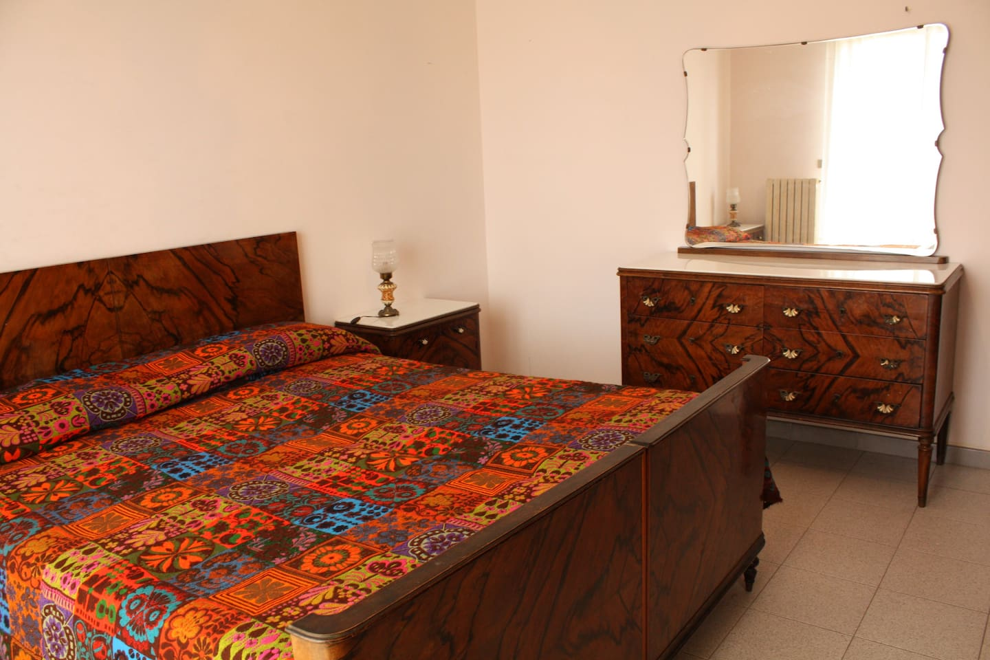 Double-bed room. All furniture is original antique and renovated.