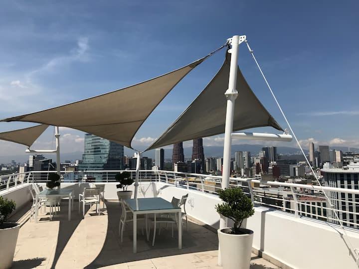 Moderno Depa 2 pisos equipado full, AnzuresPolanco