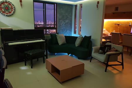 Nice apartment with books and music to share!