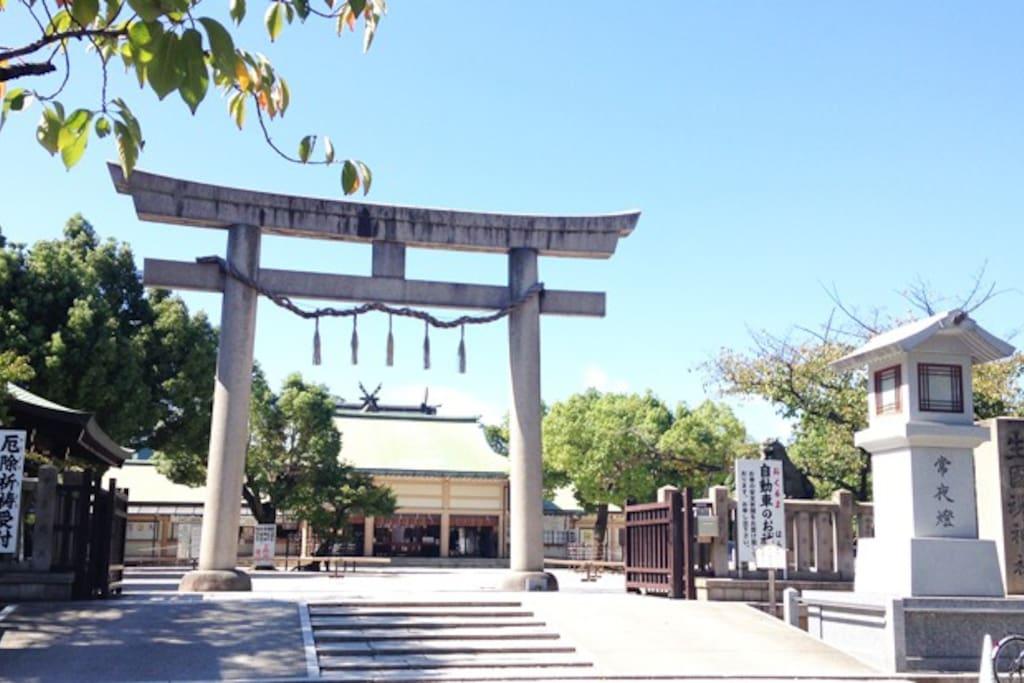 Ikutama shrine (5mins by walk)