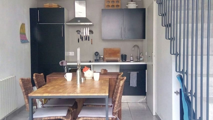 Loft cosy (bar, terrasse & parking) - Lyon - Loft