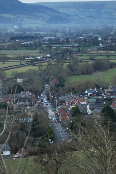 View of Llanymynech Hill