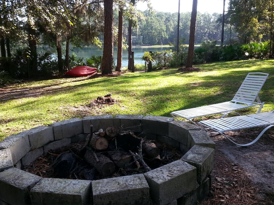 Perfect place to relax and enjoy a campfire.  So quite and peaceful.