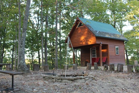 Charming Primitive A-Frame 2 Room Cabin Experience