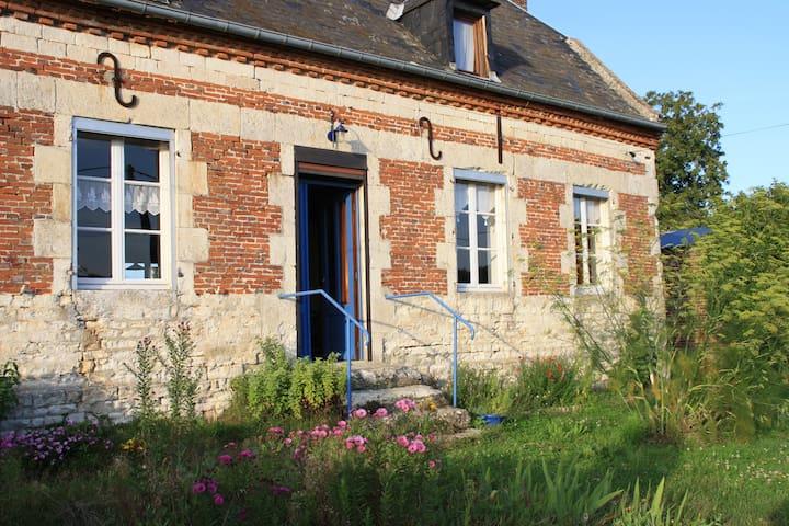 maison ancienne en limite village - Agnicourt-et-Séchelles - House
