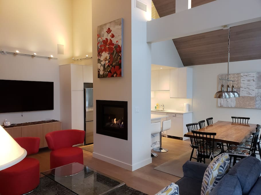 Living and dining areas are spacious.