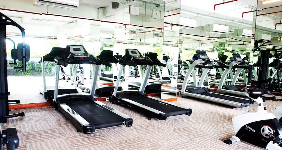 Gym for your health. Health is a lifestyle :) Next to pool @ 1st floor.