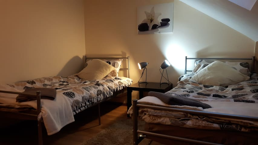 UK- Long let - beige room with skylight views