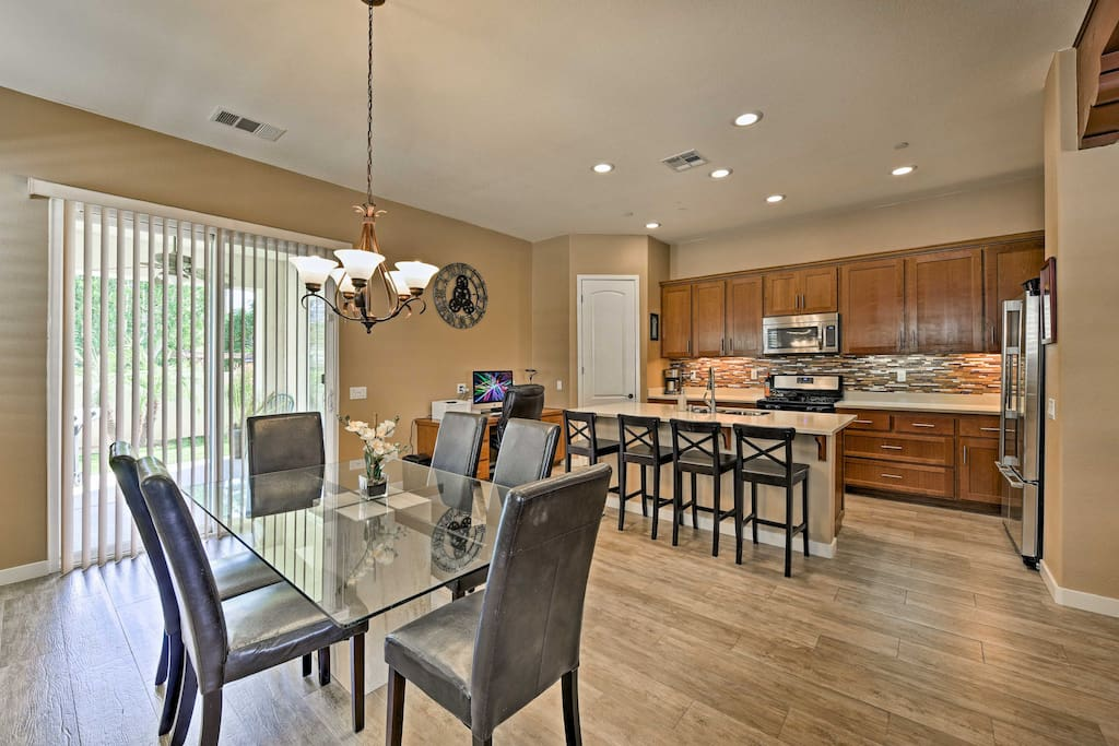 With an open layout and a spacious backyard, this home is perfect for gatherings.