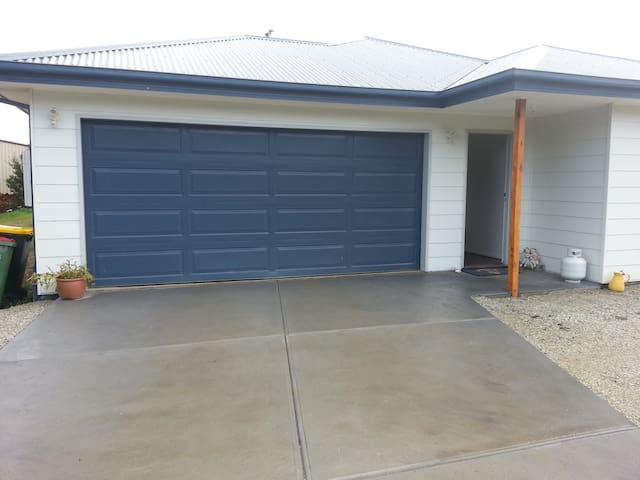 Driveway and garage at front of house