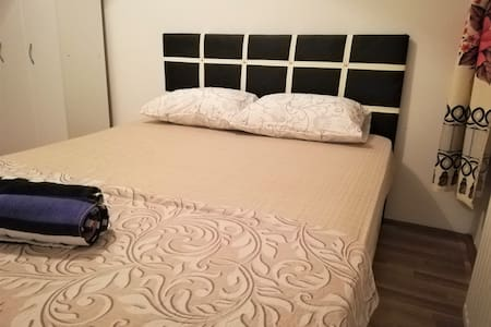White room by double bed