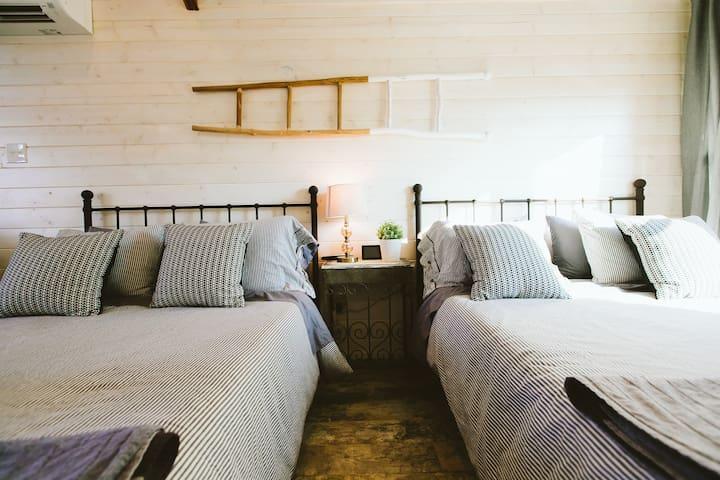 Memory foam mattresses & pillows make it feel like you're sleeping on a cloud!