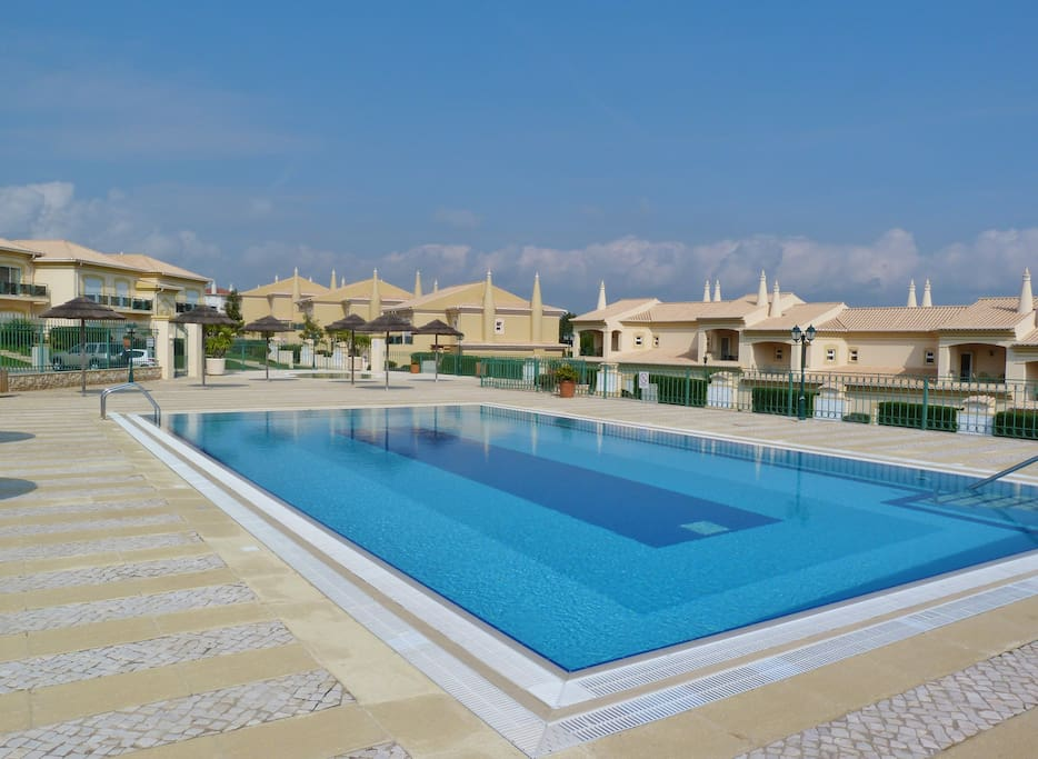 Large communal pool heated April - October