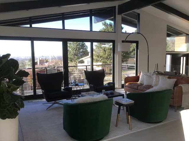Main Floor Living Room with views of the entire SLC Valley!