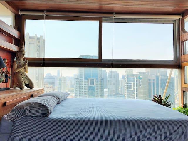 雨林主卧室,两个阳台PENTHOUSE Master Room INCREDIBLE VIEWS