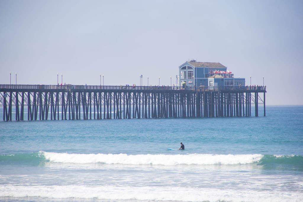 Oceanside Pier Block away