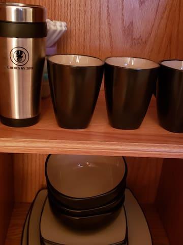 Mugs, bowls and plates