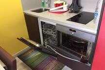 Lavavajillas y horno/microondas