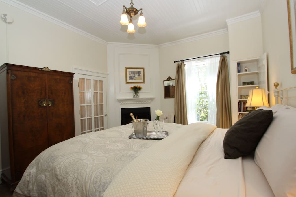 "This room also overlooks our quaint ""Secret"" Garden"