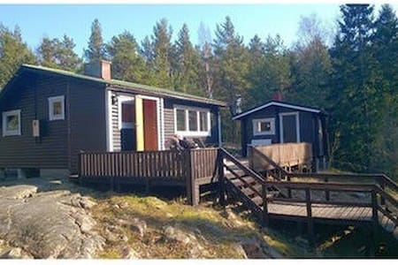 Cozy cabin with big terrace & Sauna - Lemland