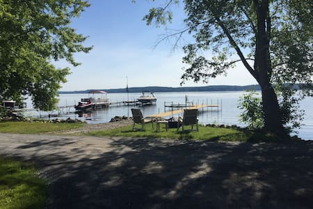 Private Saratoga Lake front property
