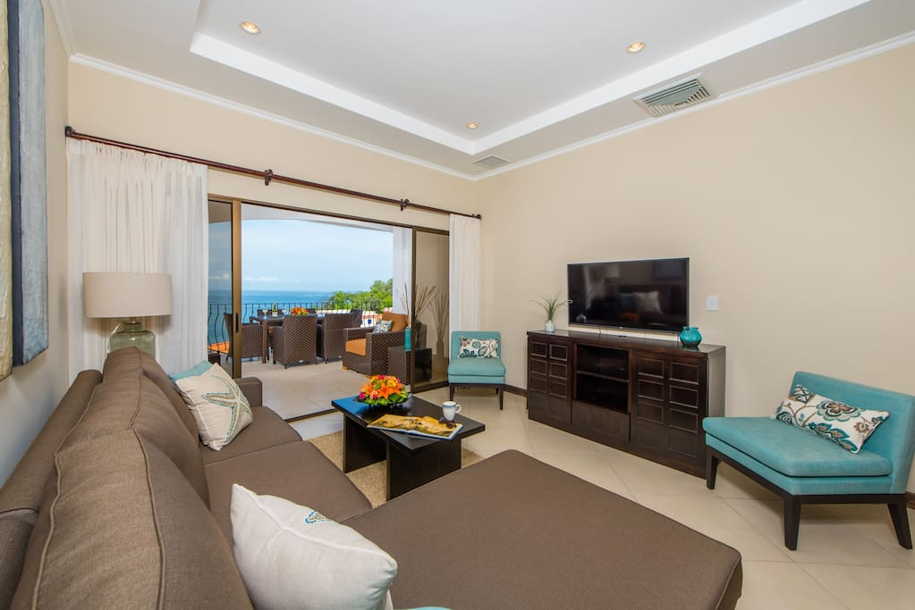 Living room with oceanview