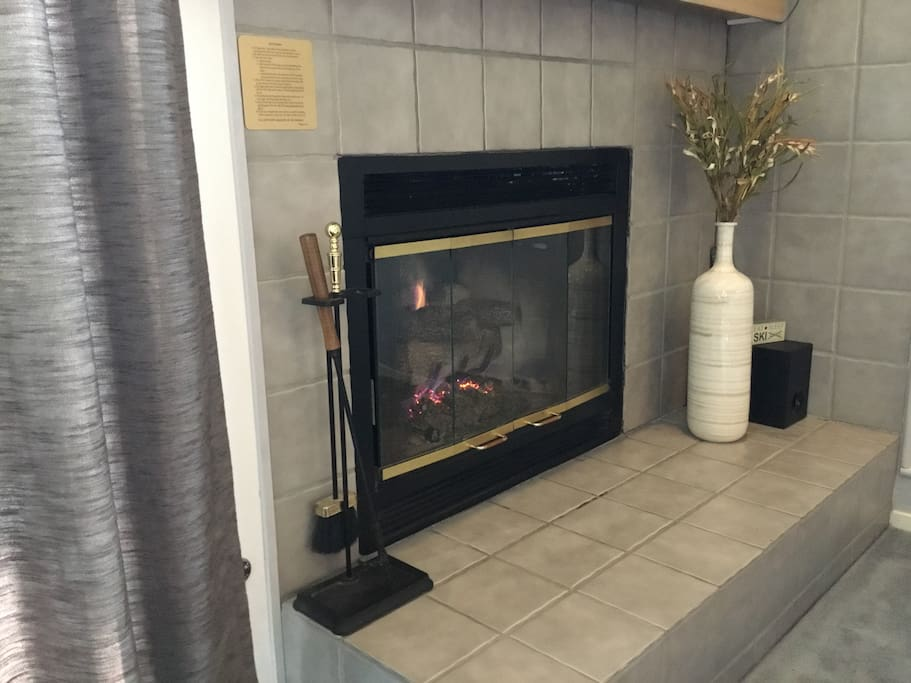 Comfy gas fireplace