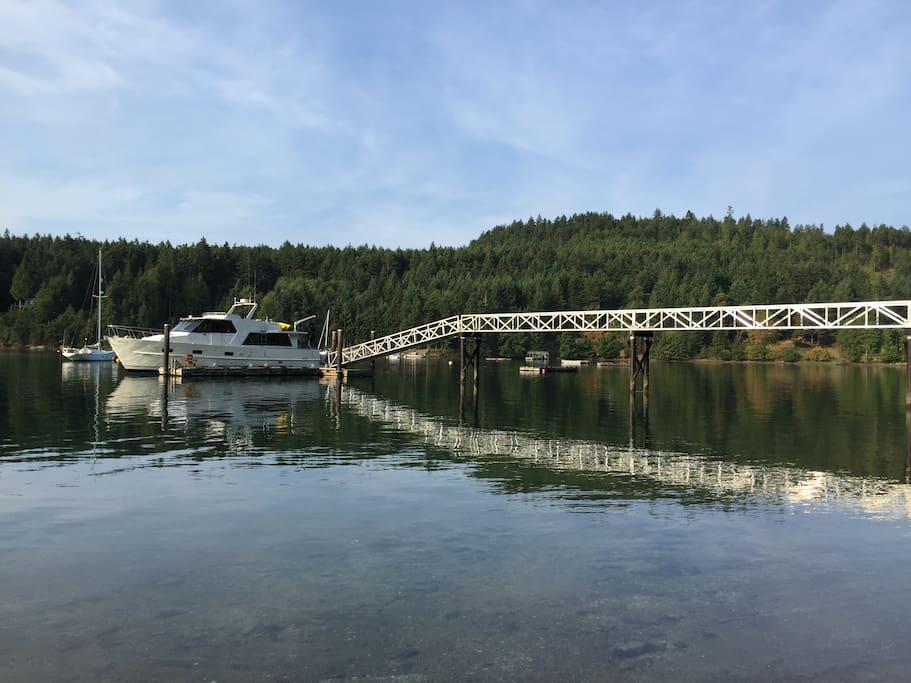 Deep water private dock and moorage to accommodate vessels to 50 feet and multiple runabouts and tenders