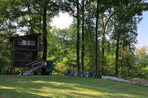 The Trailside Treehouse is situated in the heart of Richmond, Virginia--one of the most active communities on the East Coast--and in the entire country. The treehouse property includes 5 wooded acres, many of which have single-track trails on them, which are used as part of the James River Park System's network of 22 miles of single-track trail.