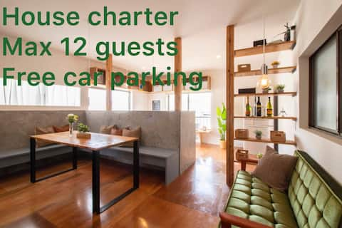 Private big house with 5private room&Free parking