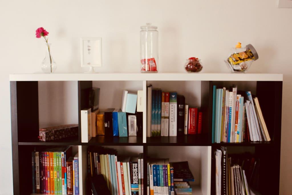 餐厅的书架