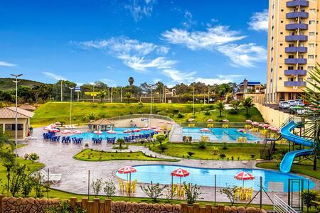 GD Express: Flat com ótimo parque aquático