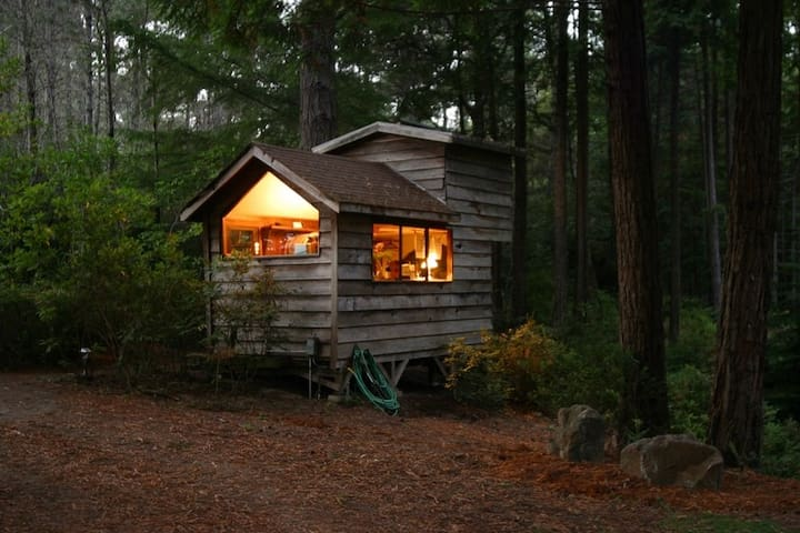 Cozy, Secluded Romantic Cabin in a Redwood Forest - Little River - Stuga