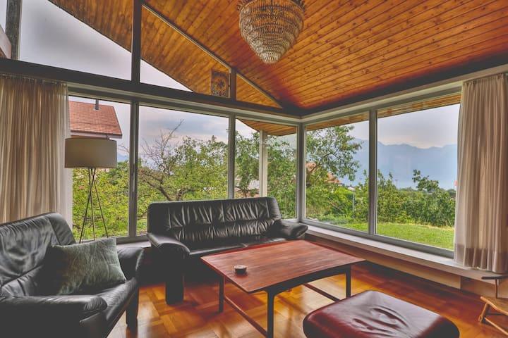 Maison familiale à Montreux avec vue sur le lac