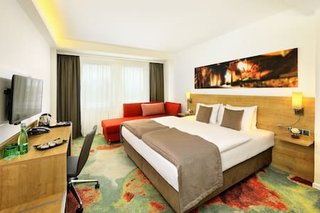 Luxury room with a double bed