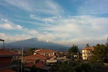 View of the Etna from the balcony