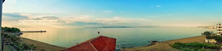 Lebiderya, Deniz ve İstanbul manzaralı,full eşyalı