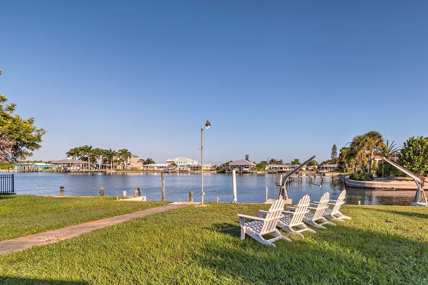 Book your Englewood trip to this waterfront 2-bedroom, 2-bath vacation rental!