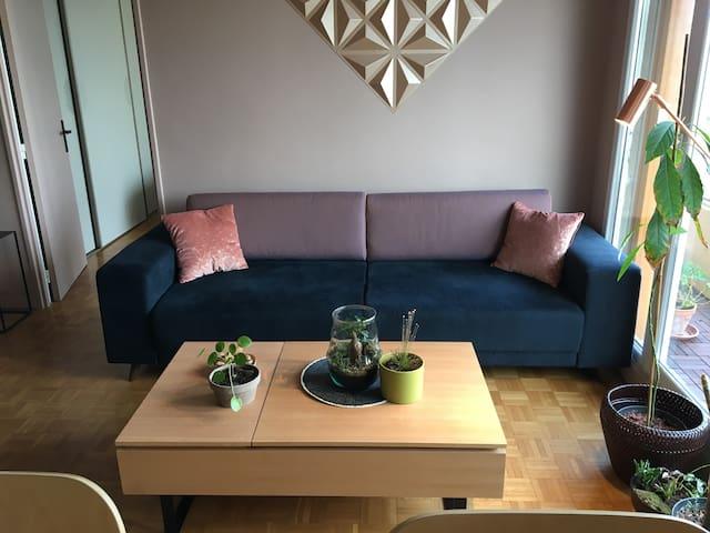 Lovely Cosy flat, 10' from Paris, nice Balcony